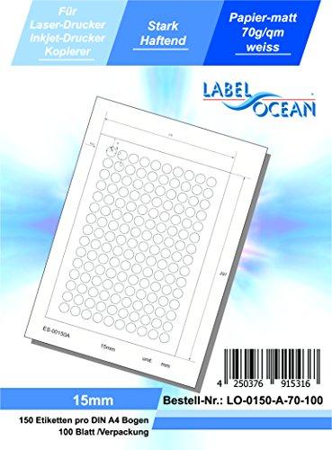 LabelOcean LO-0150-A-70-100 Universal Etiketten, 100 Blatt 70g/qm, Hochwertiges Papier