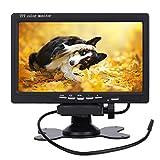 PUMPKIN 7 Zoll TFT LCD Digital Auto View Monitor als Auto Rückfahrkamera 2 Video-Eingang, Hochauflösende Bilder & Vollfarb-LCD-Display für Auto-DVD, VCD und anderen Videogeräten (CD-Y0219)