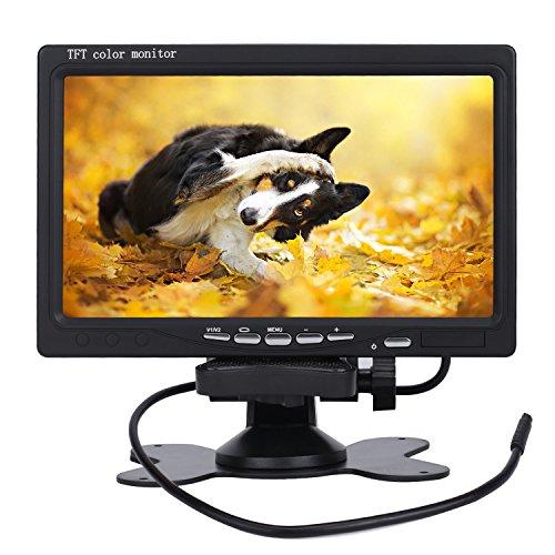 Preisvergleich Produktbild PUMPKIN 7 Zoll TFT LCD Digital Auto View Monitor als Auto Rückfahrkamera 2 Video-Eingang, Hochauflösende Bilder & Vollfarb-LCD-Display für Auto-DVD, VCD und anderen Videogeräten (CD-Y0219)