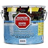 ARCAPISCINE - Peinture piscine Protection et décoration bassin Support béton et ciment Mise en oeuvre facile Bleu blanc ou gris - bleu, 2.5 l...