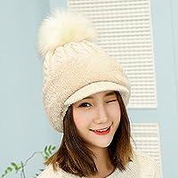 LTQ&qing Sombrero de mujer con sombrero de punto caliente sombrero bufanda una oreja protecci¨®n juventud , E , m (56-58cm)