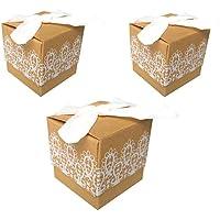 100pcs Cajas de Papel Kraft cajitas de Boda Ideales Como Caramelo Bombones Dulces Chocolate Regalos