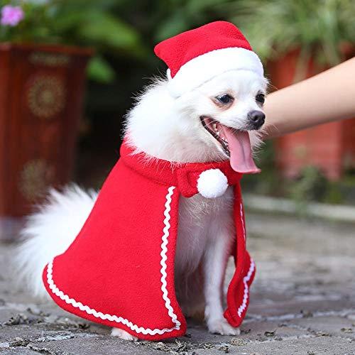 CAheadY Weihnachtshaustier-Hundekostüm-atmungsaktive Nette Kleidung Red