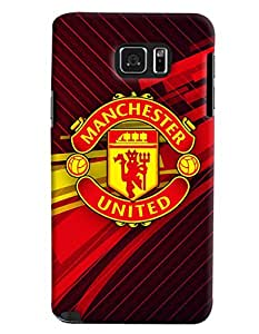 Clarks Manchaster United Logo Hard Plastic Printed Back Cover/Case For Samsung Galaxy Note 5