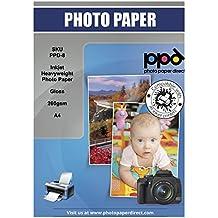A4de inyección de tinta brillante papel fotográfico Peso Pesado 260G x 100hojas