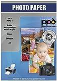 PPD A4 Carta Fotografica Lucida Per Stampanti A Getto D'Inchiostro Inkjet, 260 gsm, 100 fogli - PPD-8-100