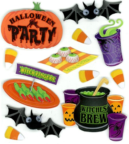 USA Produkt - Jolee ist Boutique Dimensional Stickers-Halloween Party
