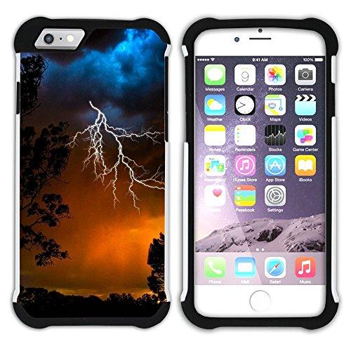 Graphic4You Blitz Blitzstrahl Sturm Hart + Weiche Kratzfeste Hülle Case Schale Tasche Schutzhülle für Apple iPhone 6 Plus / 6S Plus Design #10