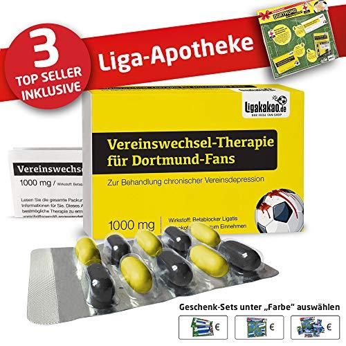 Fans by Ligakakao.de Dortmund 09 Mütze ist jetzt die Liga-APOTHEKE Strickmütze schwarz-gelb Logo Emblem Männer-Größe ()
