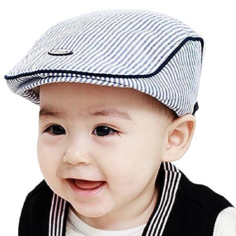 Culater® Bébé Enfant Fille Garçon Bande Chapeau de Béret Culminé Casquette de Baseball (bleu)