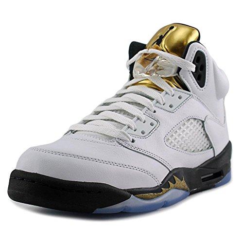 branco Moeda De blanco Blanco Ouro Ar Bg Nike Jordan Preto mtlc Basketballschuhe 5 Herren Retro 8FPx7x0qzw