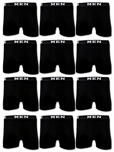 4 | 10 | 20 Boxershorts Baumwolle MEN Herren Retro Shorts Unterhosen (XXL | 8, 10 Stück | Schwarz)