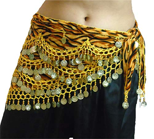 mit Münze und Perlen, Zebramuster, Größe 12-24 M bis Übergröße Gr. XL to 3XL Plus Size UK 16-24, Zebra Yellow Gold ()