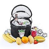 Kühltasche faltbar,Tpfocus 11 L Kühlbox Eiseimer Eisbehälter  für auto Outdoor-Camping, Picknick, Reise