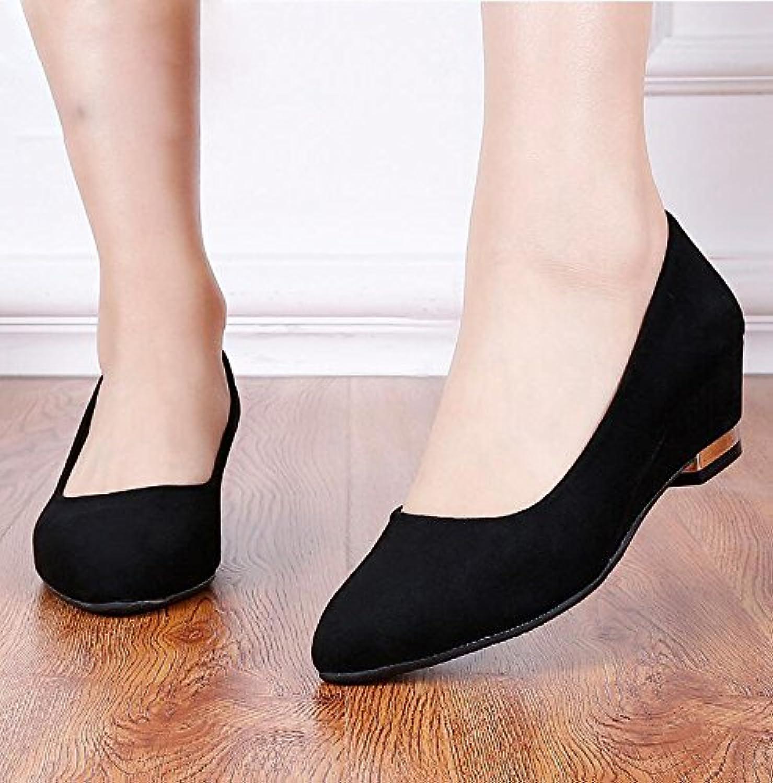 AJUNR-Zapatos De Mujer De Moda Paño De La Antigua Beijing Zapatos Negros Y Los Monos Profesional Con Un Fondo...