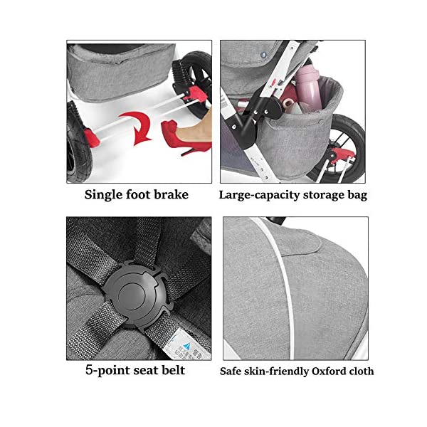 ZJGOODS Twin Baby Strollers for Boys And Girls with Adjustable Backrest Double Face to Face with Shock Absorber Comfortable Folding Trolley,B ZJGOODS TWIN STROLLER: Getting everywhere with two little ones has never been easier, thanks to the Double Strollers; you can glide around town even when you only have one hand free to steer; you can even roll through a standard size doorway. ADJUSTABLE BACKREST & CONNECTABLE SEATS :The backrest can adjust to fit baby's sleep posture to keep comfortable sleeping. Two seats can be connected to lengthen the seat. SAFETY WHEELS & 5-POINT SAFETY BELTS:The springs in front wheels absorb shocks for easy to control direction and safety. The 5-point safety belt is equipped with each seat to ensure security while keeping your baby fit to the safety belt to feel comfortable. 5