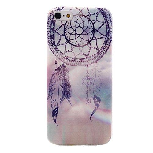 MOONCASE Etui pour iPhone 5G / 5S Gel TPU Silicone Case Cover Housse Coque Étui Mi03 Mi01 #1122