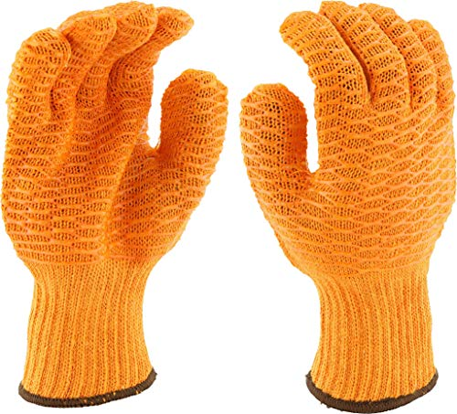 West Chester 708skh/S gold Honeycomb PVC-Griff String Knit Handschuhe, S, Orange, 12 - Chester Labs