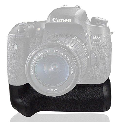 Mcoplus MK-760D Battery Grip verticale per Canon 750D 760D Rebel T6i T6s funziona con batterie LP-E17 sostituirà come BG-E18