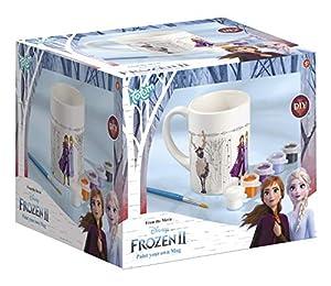 Tm essentials 680760 Pintar Disney Taza para Personalizar: Taza para Colorear de Frozen II, 6 Colores Diferentes, Pincel, Regalo para niñas, Multicolor