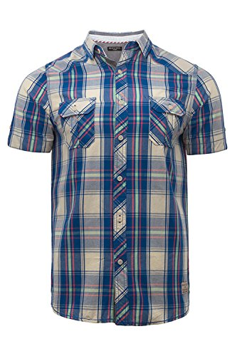 Brave Soul - Chemise casual - Chemise - Homme Blue Check Combo