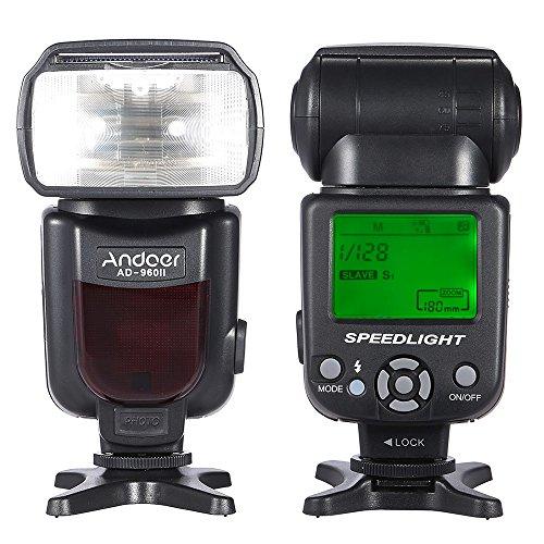 Andoer AD-960II GN54 Universal Flash Speedlite LCD Pantalla para Nikon Canon Pentax DSLR Cámara