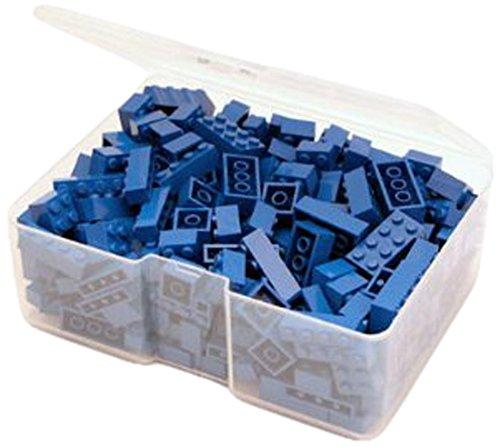Q-Bricks Unicolor Basic Bausteine Piccolo Box (300, blau)