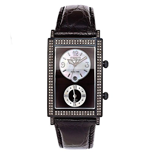 Joe Rodeo Diamond orologio da uomo - Manhattan nero 1.76 Ctw