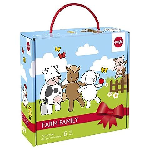 Emsa FARM FAMILY Boîte cadeau set de couverts pour enfants,