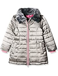 Hatley Girl's Quilted Taffeta Coat With Faux Fur Collar Jacket