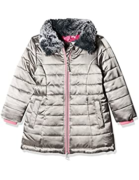 Hatley Quilted Taffeta Coat with Faux Fur Collar, Chaqueta para Niños