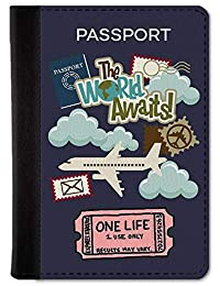 Qrioh Passport Holder Travel Wallet for Men/Women - One Life