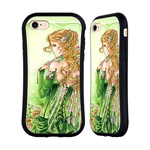 Ufficiale Meredith Dillman Boccioli Di Ciliegia Fate Case Ibrida per Apple iPhone 7 Plus / 8 Plus Donna In Verde