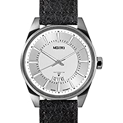 MEDOTA Grancey Men's Automatic Water Resistant Analog Quartz Watch - No. 2601 (Silver/Silver)