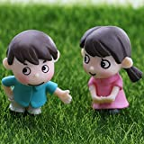 Peerless Cinchkabel (1Paar Miniatur-Gartendeko Pärchen–Sweety, zum Basteln, Miniaturen Feengarten, Miniatur-Dekoration