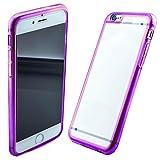 Case Cover posteriore Rainbow Hybrid Cover protettiva posteriore rigida guscio in Bumper elastico e plastica trasparente e silicone colorato bordo per Samsung Galaxy Note 3 Neo N7505 in rosa