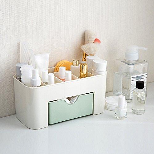 Mecohe Desktop Scatola di Trucco, Cosmetici Tipo di Cassetto Scatola di immagazzinaggio \ Salvare lo Spazio, Makeup Box per Donna (Verde)