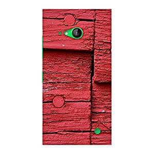 Knot Red Wood Back Case Cover for Lumia 730