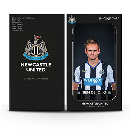Offiziell Newcastle United FC Hülle / Glanz Snap-On Case für Apple iPhone 6S+/Plus / Pack 25pcs Muster / NUFC Fussballspieler 15/16 Kollektion De Jong