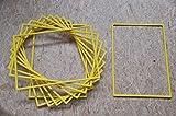 10er Set Plakatrahmen Kunststoff, DIN A1, Gelb Kunststoffplakatrahmen Bilderrahmen Rahmen Aufsteller Werbung Kunststoff Einsteckrahmen