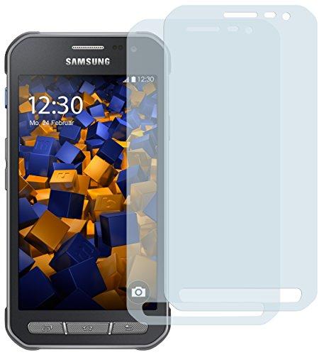 mumbi Schutzfolie kompatibel mit Samsung Galaxy Xcover 3 Folie klar, Bildschirmschutzfolie (2x)