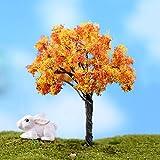 Mmrm Plastic Mini Realistische Baum Miniaturen Micro Landschaft Ornamente Puppe Home Decor Gold Baum