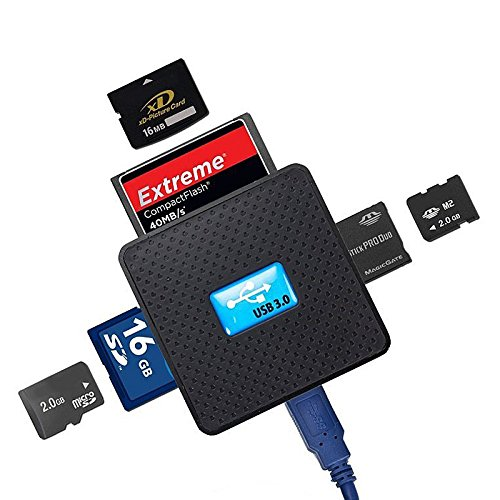 Preisvergleich Produktbild Hrph Multi Kartenleser USB 3.0 Multi-Kartenleser auf zoned Wortübersetzung lesen SD / XD / M2 / TF / MS / CF USB3.0 ABS Shell