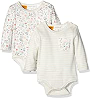 Pumpkin Patch Baby Girls 0-24m 2pk Long Sleeve Bodysuit, Off-White (French Vanilla), 3-6 Months (Manufacturer Size:3-6M)