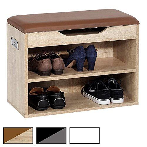 idimex meuble chaussures zapato banc avec assise et 2 tag res rangement pour 6 paires. Black Bedroom Furniture Sets. Home Design Ideas