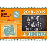 #4: My Whiz Planner - Be Busy Efficiently - 16 Months Planner From Jan 2018 To Apr 2019 - Pack of 1 - Multipurpose Magnetic Planner -Orange - Suitable for Home / Office / School / Students / Family / Team / Group