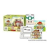 New Nintendo 3DS Animal Crossing HHD Bundle inkl. 1Up-Pilz Zierblende (1 weißer N3DS, 1 Spiel, 2 Zierblenden)