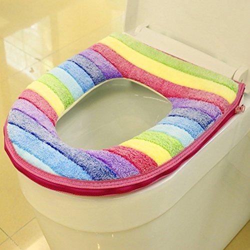 Uxradg bagno più caldo copriwater panno morbido closestool lavabile coperchio superiore copertura pad, come da immagine, 1#