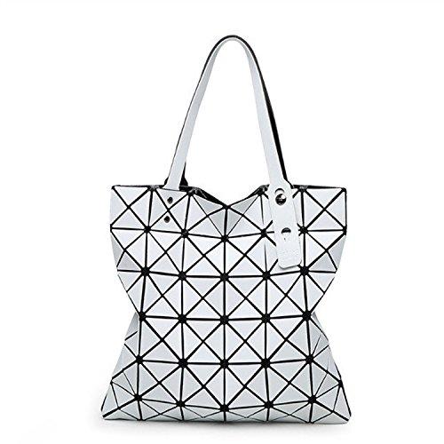 Mefly La nuova borsa di piegatura Lingge Bangalor Fashion borsetta grigio scuro white