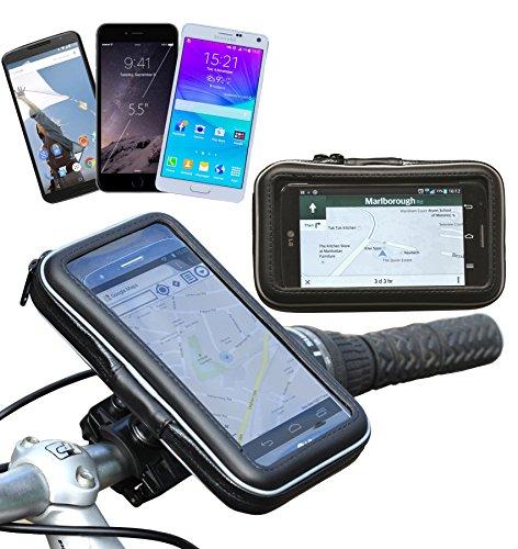 Navitech 5 Zoll Wasserfeste Fahrrad und Motorrad Halterung Montierung und Case für GPS / Navi / Smartphone